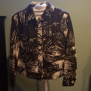 Proenza schouler palm leaf cropped jacket Size l